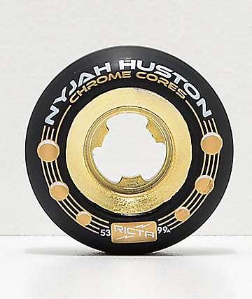 Ricta Nyjah Gold & Black 53mm 99a Skateboard Wheels