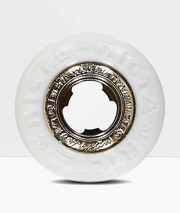Ricta Nyjah Gold Core White 53mm Skateboard Wheels