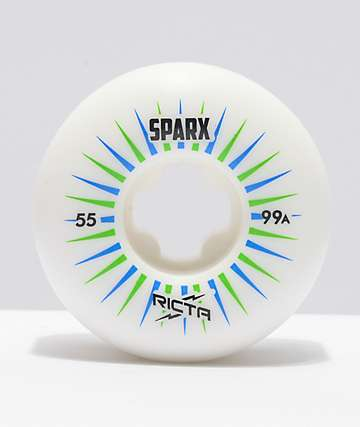 Ricta Sparx 55mm 99a White Skateboard Wheels