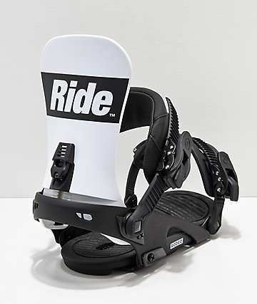 Ride Rodeo Black & White Snowboard Bindings 2019