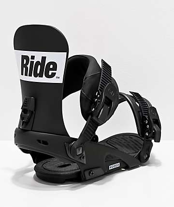 Ride Rodeo Black & White Snowboard Bindings 2020