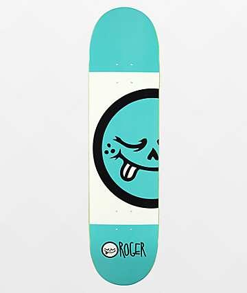 "Roger Blue Logo 8.0"" Skateboard Deck"
