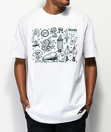 Roger Doodler White T-Shirt