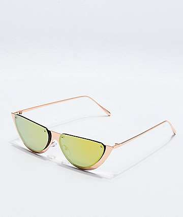 Rose Gold Half Moon Sunglasses