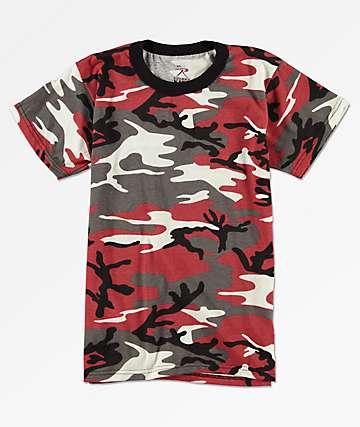 Rothco Boys Red Camo T-Shirt