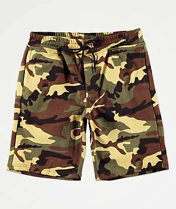 Rothco Woodland Camo Sweat Shorts