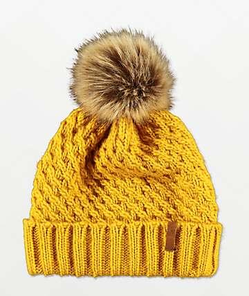 Roxy Blizzard Spruce gorro amarillo