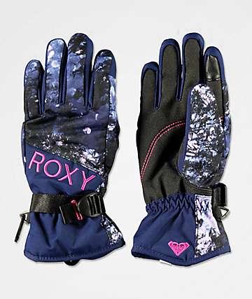 Roxy Jetty Blue Sparkles Snowboard Gloves