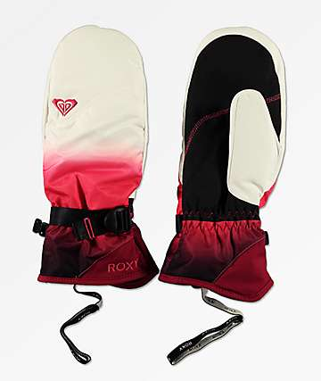 Roxy Jetty SE Tea Berry Wave mitones de snowboard