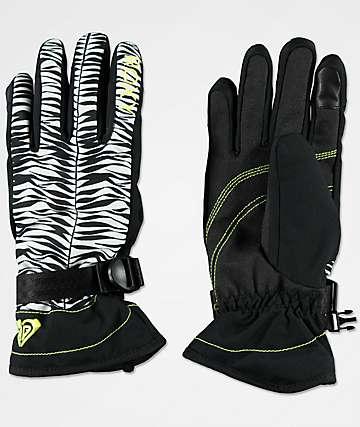 Roxy Jetty Savanna Black Snowboard Gloves