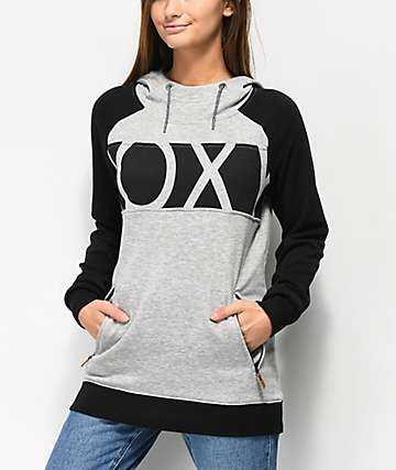 Roxy Liberty Heather Grey Hoodie