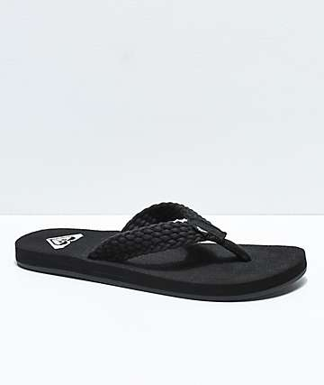 Roxy Porto II Black Sandals