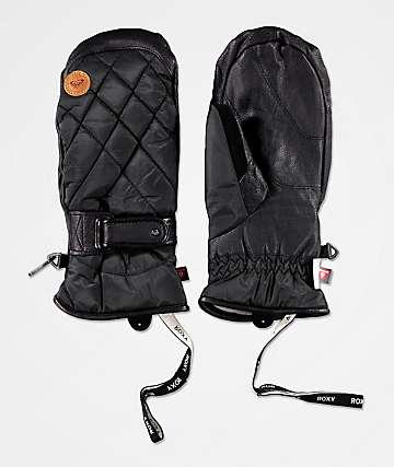 Roxy Victoria Black Snowboard Mittens
