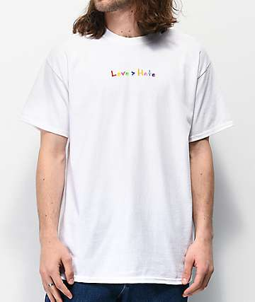 Roy Purdy Love Hate White T-Shirt