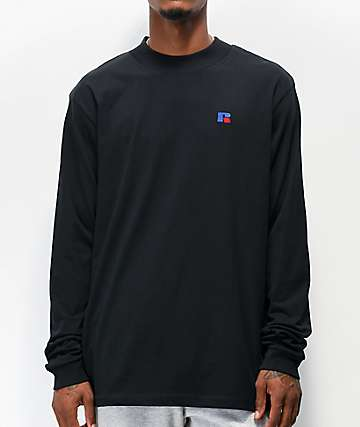 Russell Athletic Larry Black Long Sleeve T-Shirt