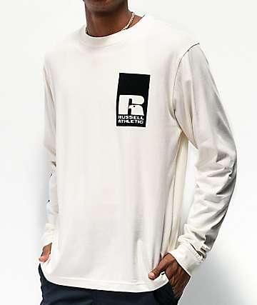 Russell Athletic Leandro Flocked camiseta natural de manga larga