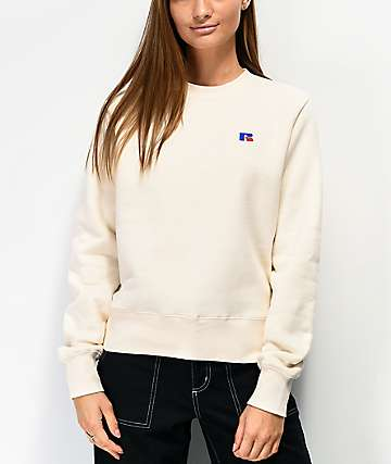 Russell Athletic Lily White Crew Neck Sweatshirt