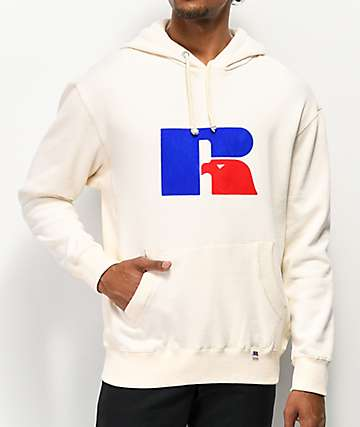 Russell Athletic Mikey Flock Natural Hoodie