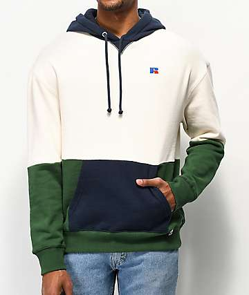 Russell Athletic Miller Colorblock Green Hoodie