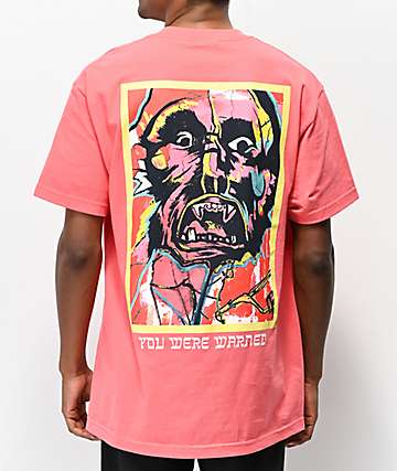 SCUM Face Coral T-Shirt