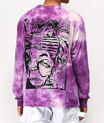SCUM Sketchbook Purple & White Tie Dye Long Sleeve T-Shirt