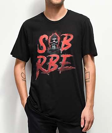 SOB x RBE Ski Mask 3D Black T-Shirt
