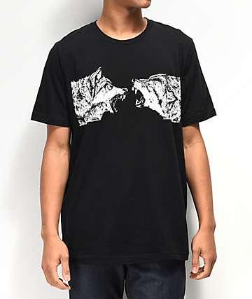 SOVRN Geri & Fleki Black T-Shirt