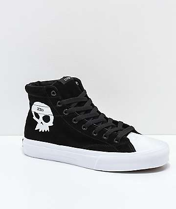 STRAYE Venice Zero Black & White Skate Shoes