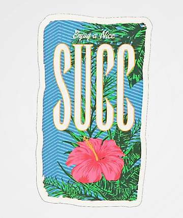 SUCC Flower Sticker