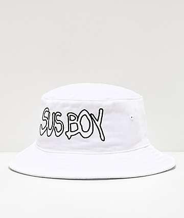 SUS BOY sombrero de cubo blanco