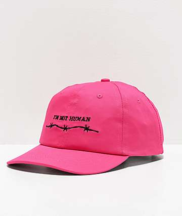 SWIXXZ Not Human gorra rosa neón