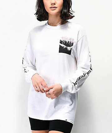 SWIXXZ Pinky Promise camiseta blanca de manga larga