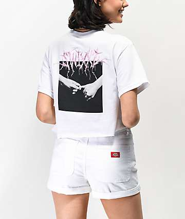 SWIXXZ Pinky Promise camiseta corta blanca
