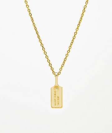 """Saint Midas Zip Tie 22"""" collar con colgante de oro amarillo"""
