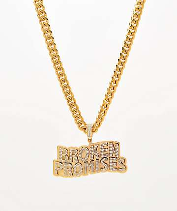 Saint Midas x Broken Promises Iced Wave Gold Cuban Chain