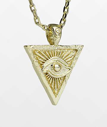 Saint Midas x Nyjah Huston Eye Of Providence Gold Necklace