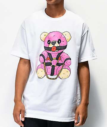 Salem7 Bondage Bear White T-Shirt