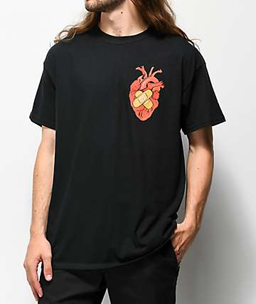 Salem7 Heart Black T-Shirt