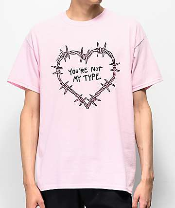 Salem7 Not You Light Pink T-Shirt