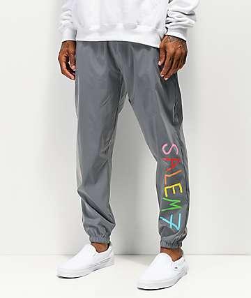 Salem7 Reflective Grey Track Pants