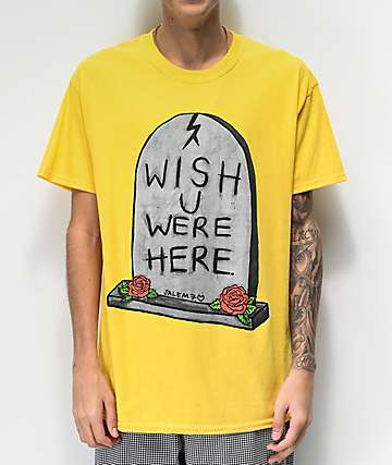 Salem7 Wish U Were Here Yellow T-Shirt
