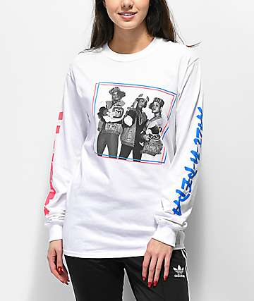 Salt-N-Pepa White Long Sleeve T-Shirt
