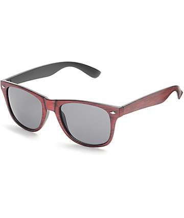 Salt Water Brown Wood Retro Sunglasses