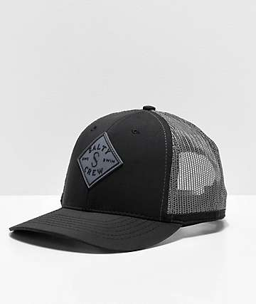 Salty Crew Aruba Custom Retro Black Trucker Hat