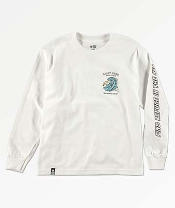 Salty Crew Boys Ding Repair White Long Sleeve T-Shirt