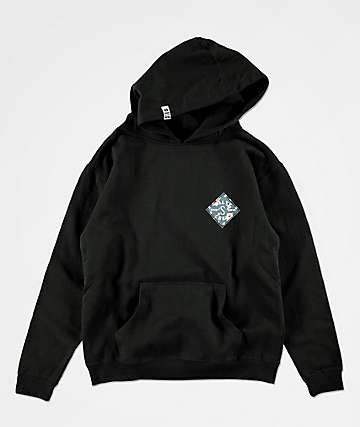 Salty Crew Boys Island Time Black Hoodie