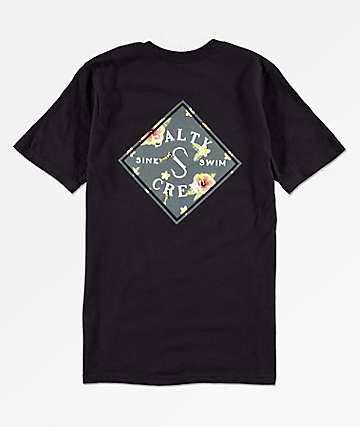 Salty Crew Boys Island Time Black T-Shirt