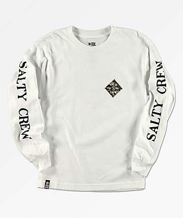 Salty Crew Boys Tippet White Long Sleeve T-Shirt