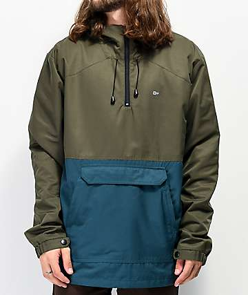 Salty Crew Deckhand Brown Anorak Jacket