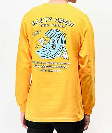 Salty Crew Ding Repair Yellow Long Sleeve T-Shirt